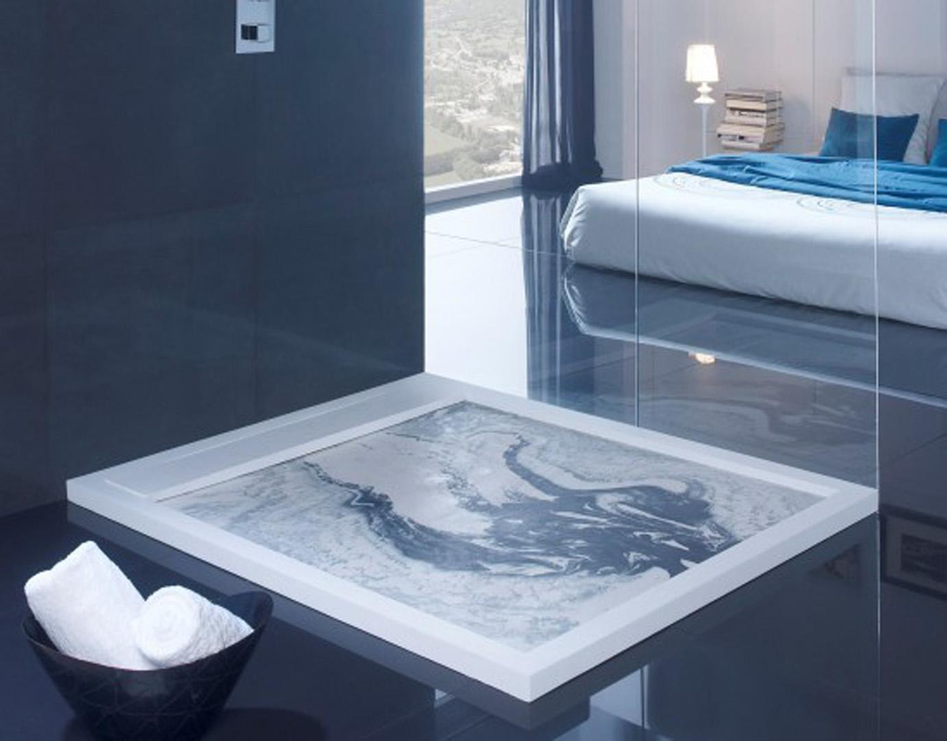 Plato de ducha pizarra acabado efecto m rmol casa maravilla - Platos de ducha de marmol ...